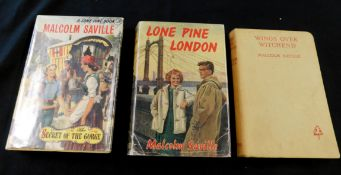 MALCOLM SAVILLE: 3 titles: WINGS OVER WITCHEND, London, George Newnes, 1956, 1st edition, signed