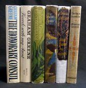 GRAHAM GREENE: 6 titles: THE QUIET AMERICAN, London, William Heinemann, 1955, 1st edition,