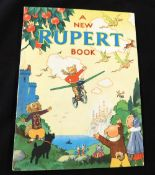 """A NEW RUPERT BOOK, [1945], annual, price unclipped, inscription on """"This book belongs to"""" page, 4to,"""