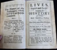 LIVES ENGLISH AND FOREIN CONTAINING THE HISTORY OF THE MOST ILLUSTRIOUS PERSONS OF OUR OWN AND OTHER