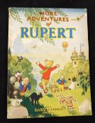 """MORE ADVENTURES OF RUPERT, [1947], annual, price unclipped, inscription on """"This book belongs to"""""""