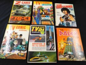 Collection 11 TV related annuals comprising DAVID WHITAKER AND TERRY NATION: THE DALEK WORLD, [