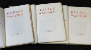 HORACE WALPOLE: LETTERS TO THE COUNTESS OF OSSORY, London, after L Humphreys, 1903, 3 vols, prize
