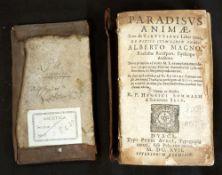 SAINT ALBERTUS MAGNUS: PARADISUS ANIMAE ALBERTI MAGNI..., ed Henricus Sommalius, Duaci Petri Aurol