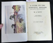 W A DUTT: A GUIDE TO THE NORFOLK BROADS, London, Methuen, 1923, 1st edition, plates collated