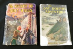 MALCOLM SAVILLE: 2 titles: THE GAY DOLPHIN ADVENTURE, London, George Newnes, 1945, 1st edition,
