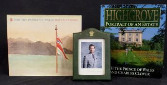 HRH PRINCE CHARLES, PRINCE OF WALES, 2 titles: HRH THE PRINCE OF WALES WATERCOLOURS, Boston, Toronto
