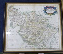 ROBERT MORDEN: 2 engraved hand coloured maps comprising THE WEST RIDING OF YORKSHIRE, [1695], approx