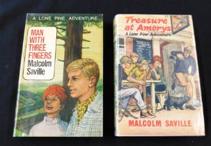 MALCOLM SAVILLE: 2 titles: TREASURE AT AMORYS, London, George Newnes, 1964, 1st edition, rubber