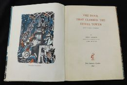 ODO CROSS: THE SNAIL THAT CLIMBED THE EIFFEL TOWER, ill John Minton, London, John Lehmann, 1947, 1st