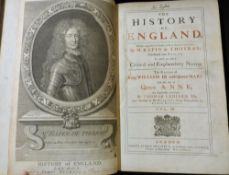 PAUL RAPIN DE THOYRAS: THE HISTORY OF ENGLAND, trans John Kelly, London for James Mechell, 1732-