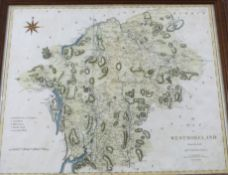 JOHN CARY: A MAP OF WESTMORLAND FROM THE BEST AUTHORITIES, engraved hand coloured map, 1806,