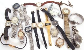Quantity of watches to include a ladies Sekonda 17-jewel USSR wrist watch, a 1940s Service wrist