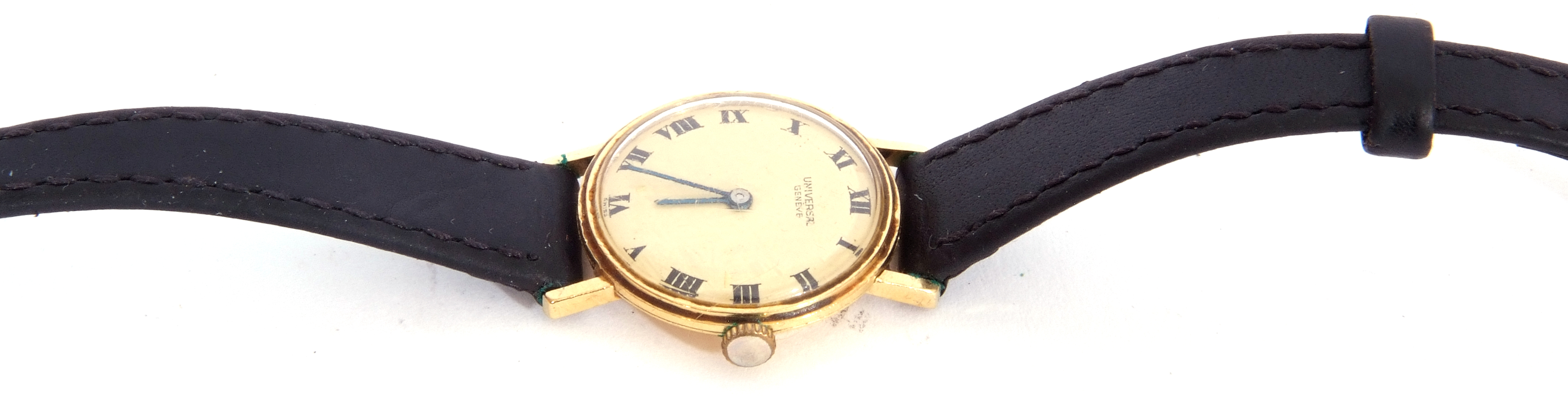 First quarter of 20th century ladies wrist watch, the round dial with black painted Roman - Image 2 of 6