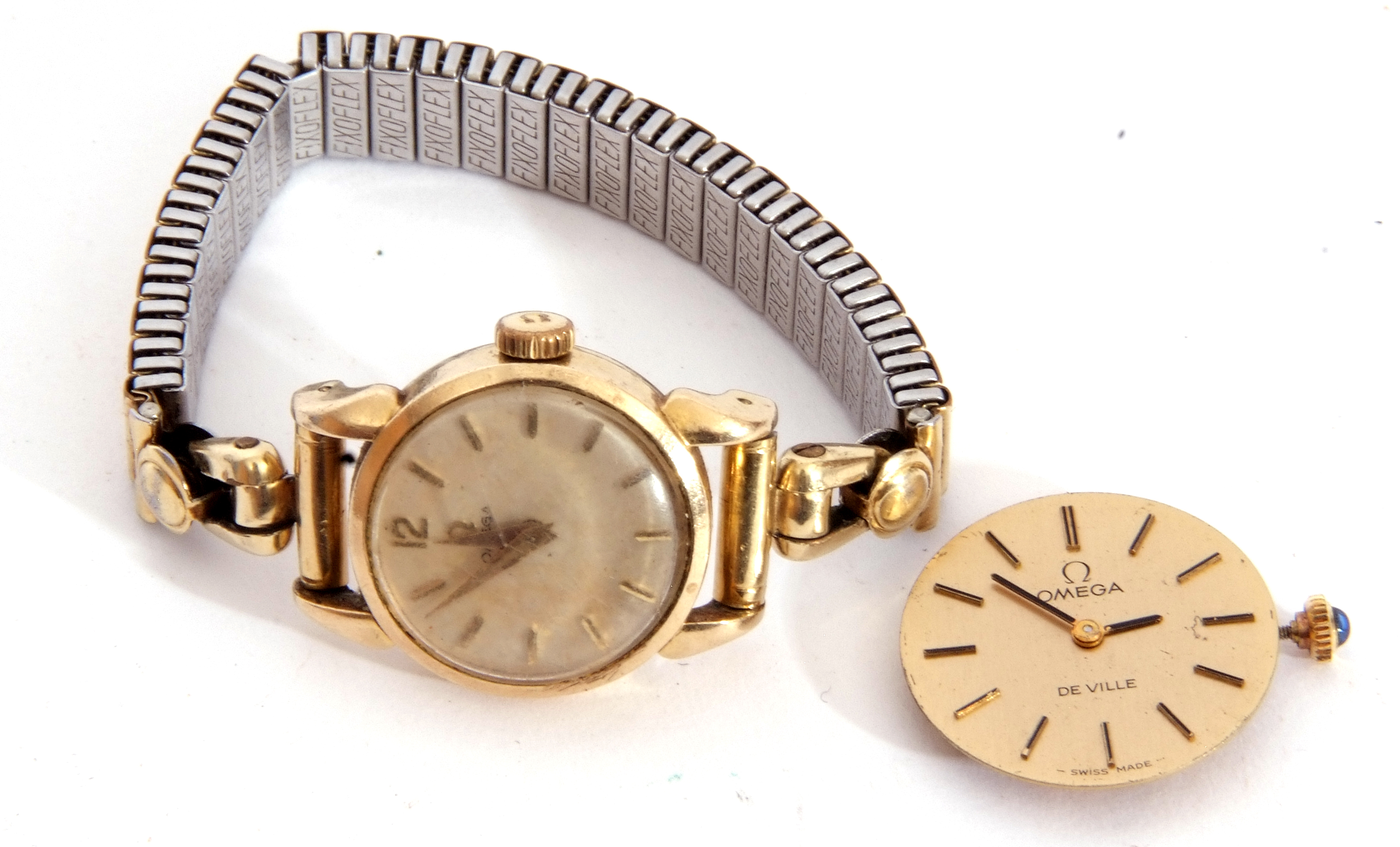 Mixed Lot: ladies Omega De Ville movement, signed 17-jewel movement, 42-05 8802, the winder - Image 2 of 8
