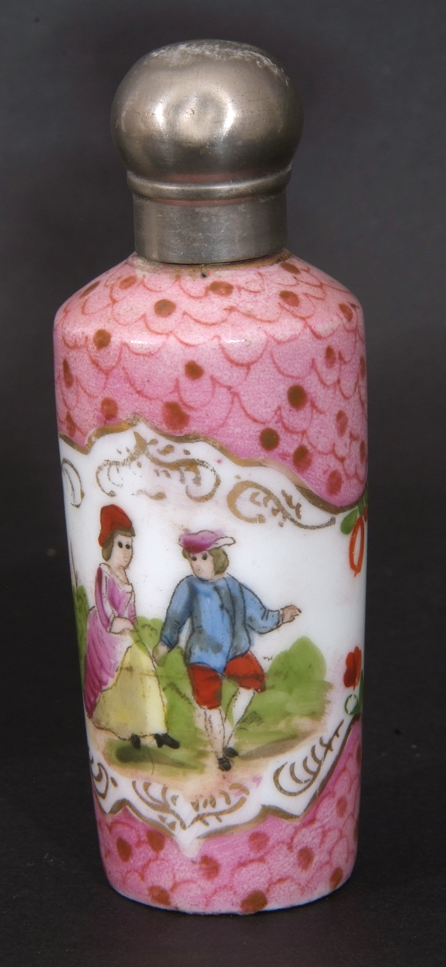 Mixed Lot: 19th century milk glass scent bottle with gilt metal hinged lid with inset to cap, a - Image 6 of 12