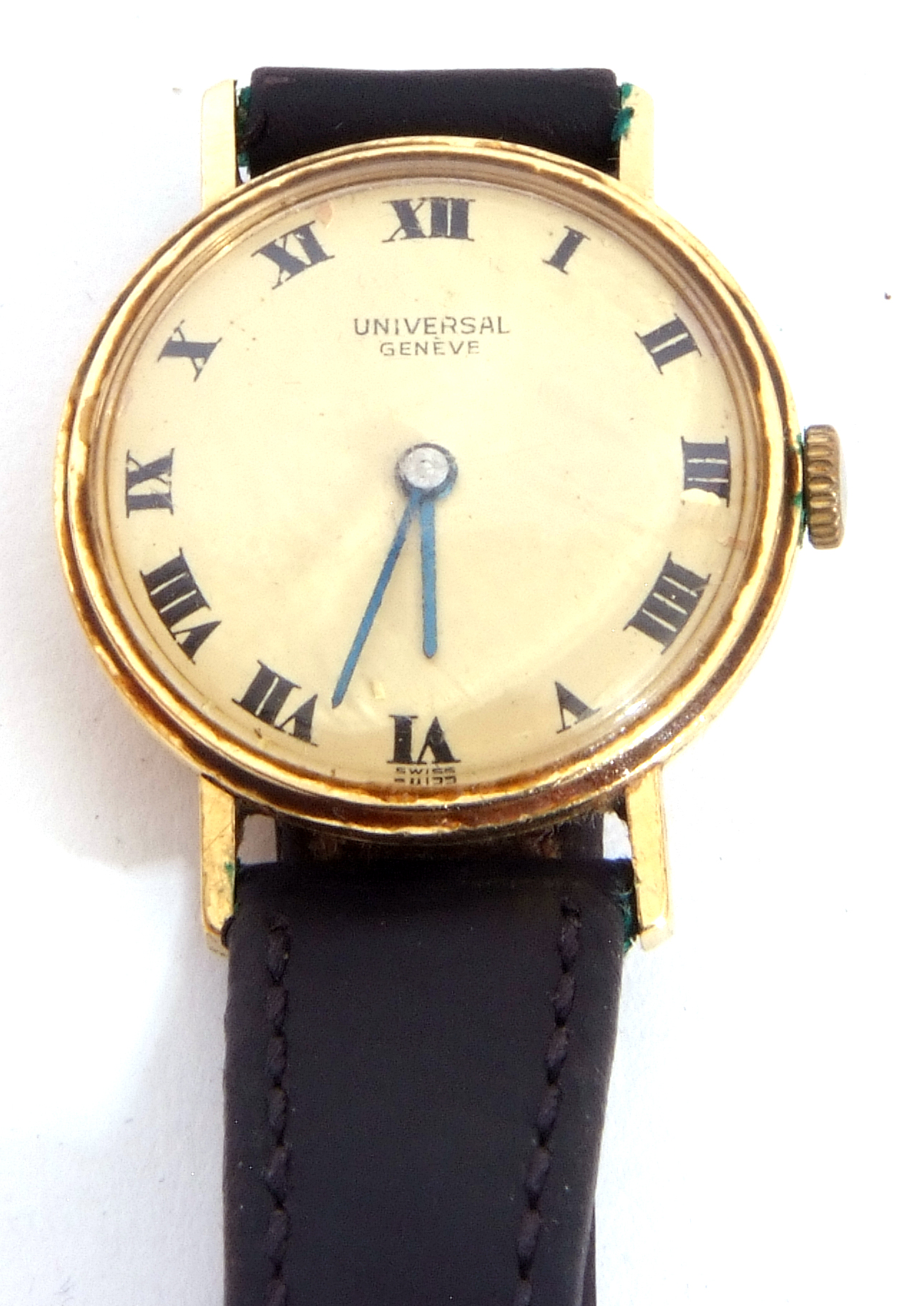 First quarter of 20th century ladies wrist watch, the round dial with black painted Roman - Image 5 of 6