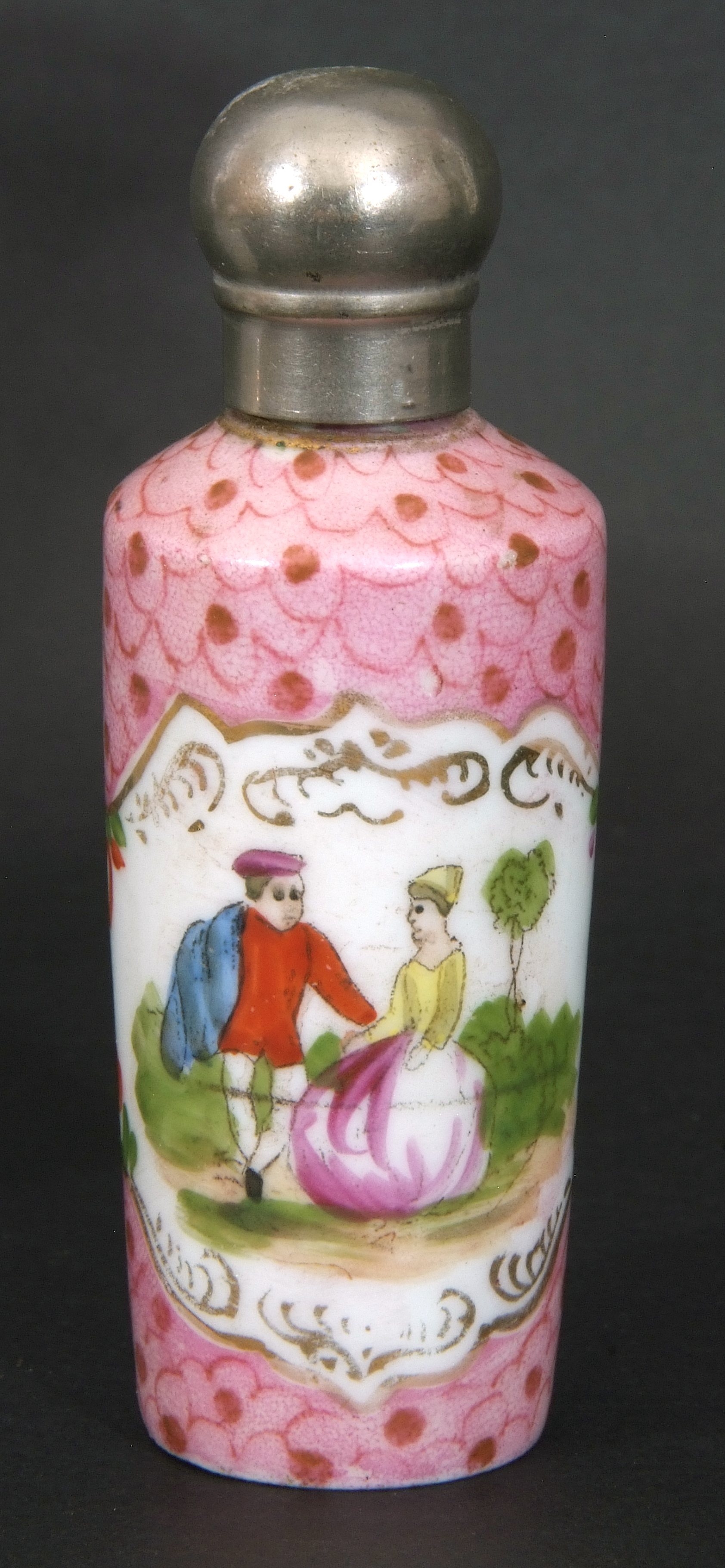 Mixed Lot: 19th century milk glass scent bottle with gilt metal hinged lid with inset to cap, a - Image 5 of 12