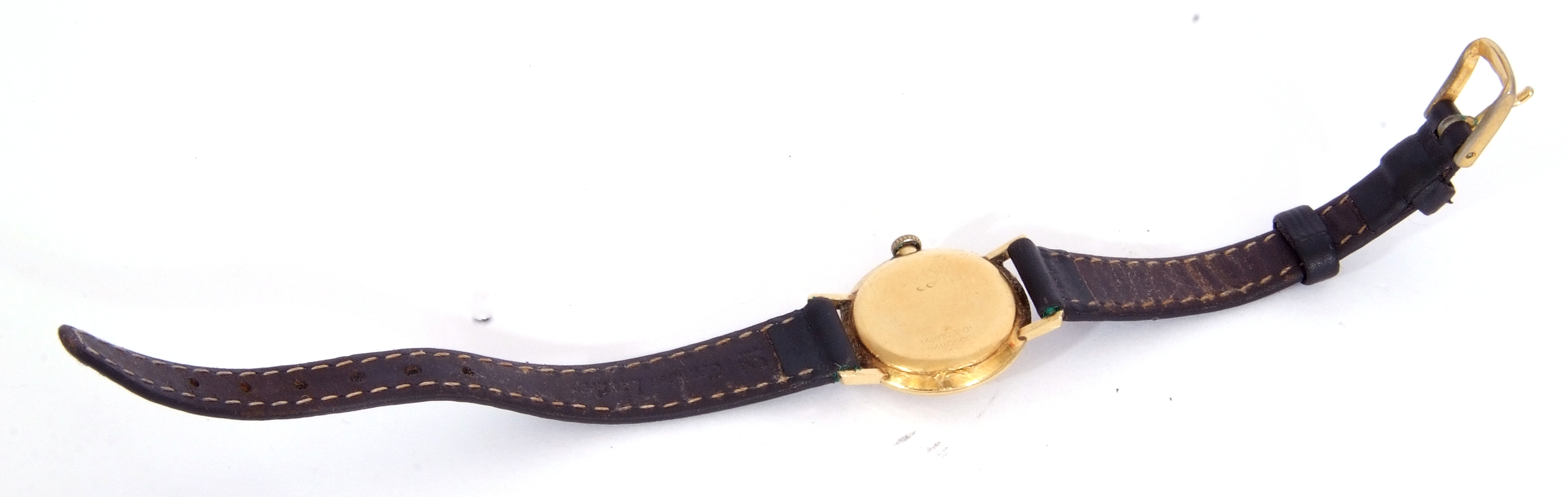 First quarter of 20th century ladies wrist watch, the round dial with black painted Roman - Image 4 of 6