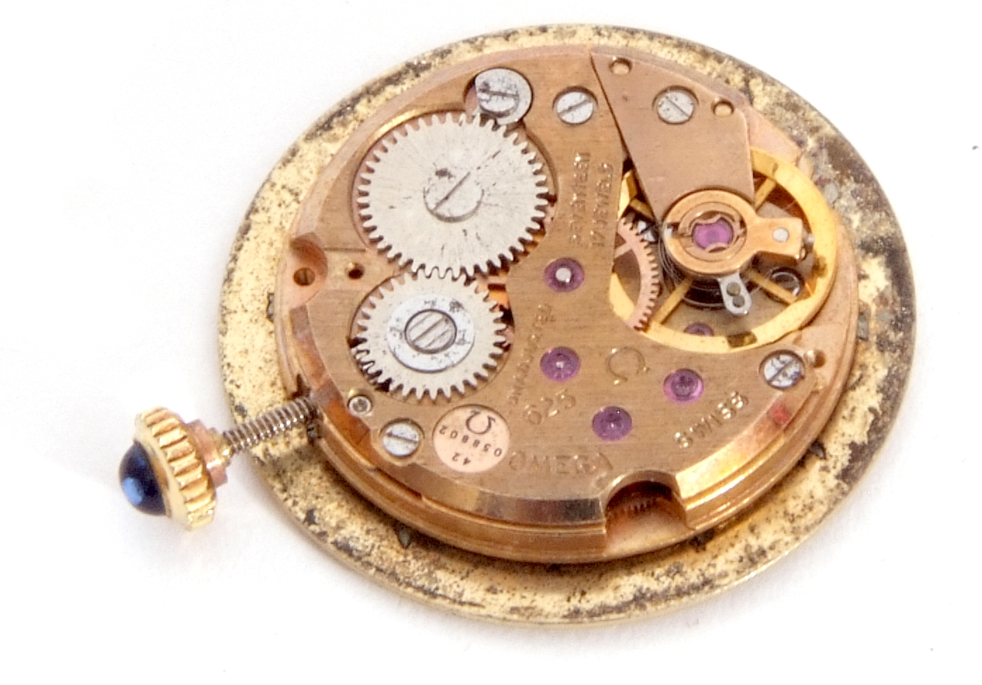Mixed Lot: ladies Omega De Ville movement, signed 17-jewel movement, 42-05 8802, the winder - Image 6 of 8