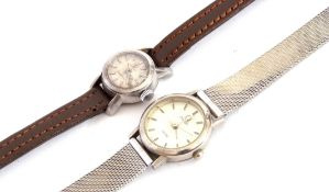 Mixed Lot: Second quarter of 20th century ladies Omega Ladymatic cocktail watch, a round stainless