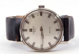 """Third quarter of 20th century gents stainless steel cased Tissot """"Seastar"""" wrist watch with silvered"""
