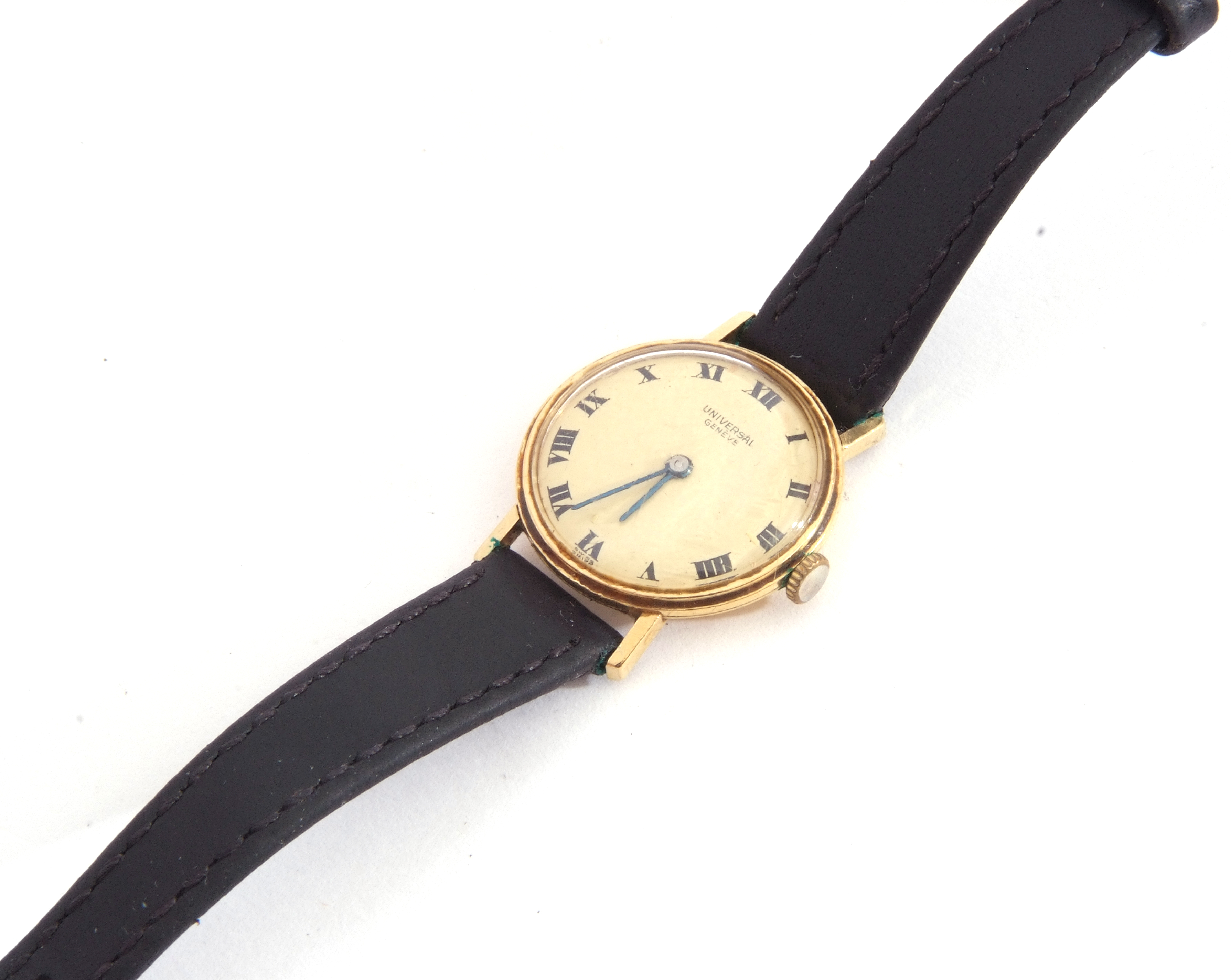 First quarter of 20th century ladies wrist watch, the round dial with black painted Roman - Image 3 of 6