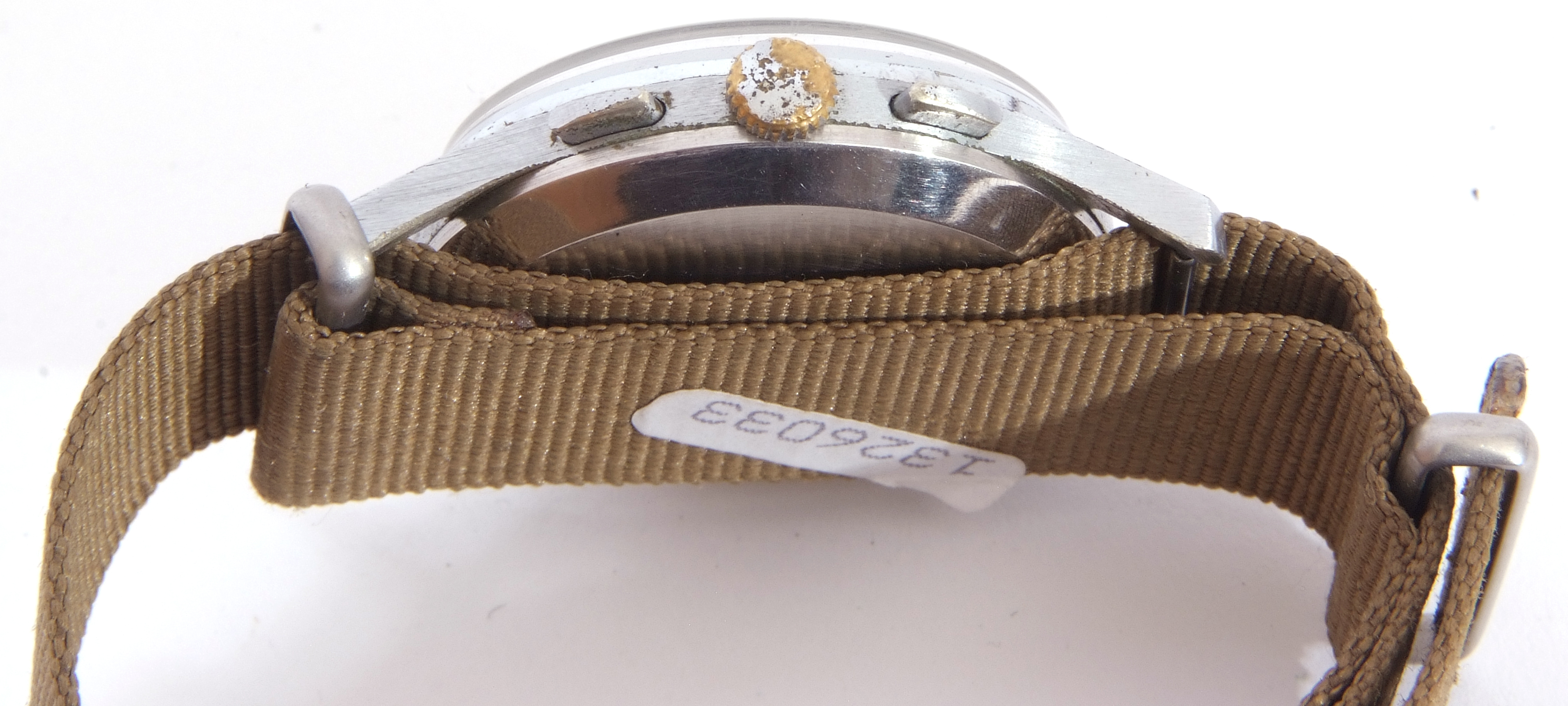 Third quarter of 20th century Sekonda centre seconds wrist chronograph watch case, stainless steel - Image 4 of 6