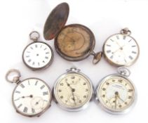 Mixed Lot: four pocket watches and two stop watches, all a/f