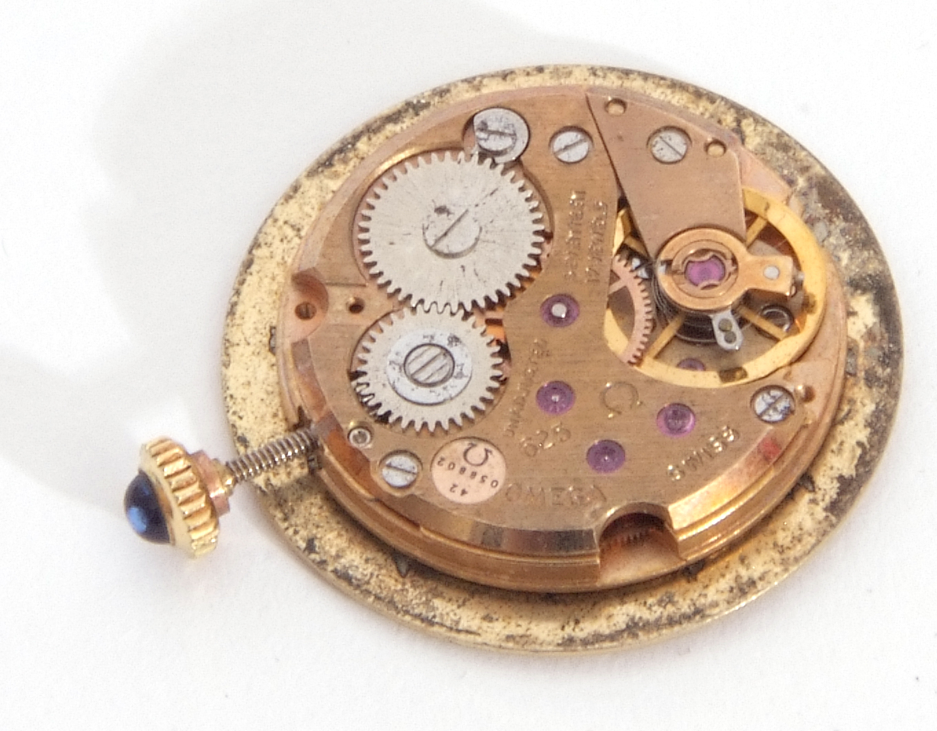 Mixed Lot: ladies Omega De Ville movement, signed 17-jewel movement, 42-05 8802, the winder - Image 7 of 8