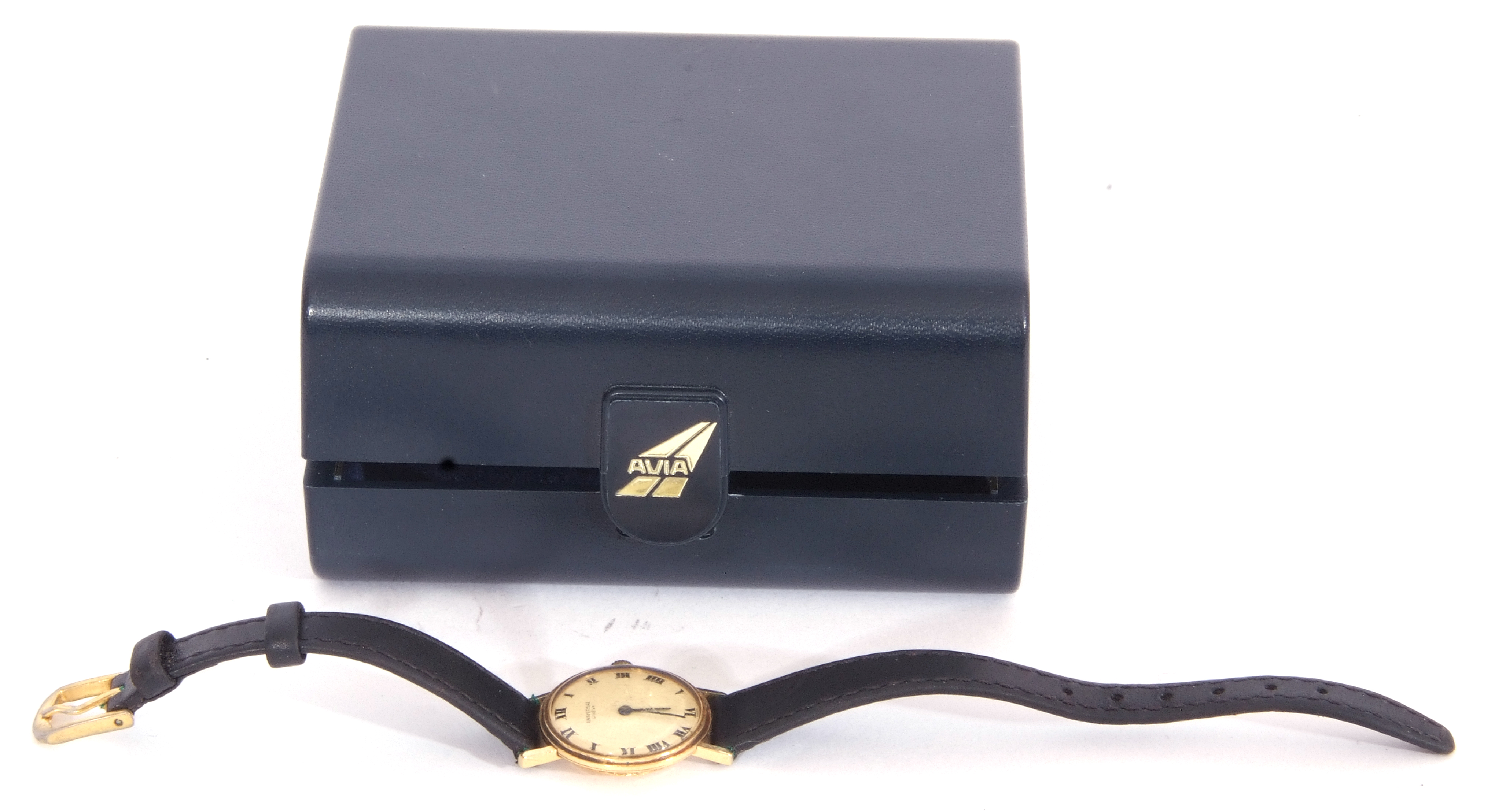 First quarter of 20th century ladies wrist watch, the round dial with black painted Roman - Image 6 of 6