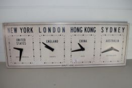 PRINT OF CLOCKS WITH VARIOUS TIMES