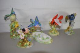 BIRD STUDIES BY CROWN STAFFORDSHIRE, MODELLED BY J T JONES