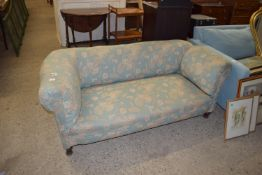TWO-SEATER DROP END SOFA WITH TURNED LEGS, LENGTH APPROX 172CM