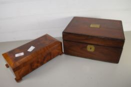 TWO WOODEN BOXES