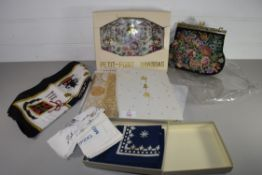EMBROIDERED PURSE AND SILK SCARF FOR LADY DIANA SPENCER