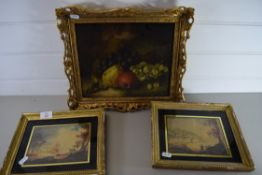 THREE SMALL PRINTS, ONE STILL LIFE AND TWO LANDSCAPES