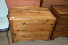 SMALL MODERN WAXED PINE CHEST OF DRAWERS, WIDTH APPROX 84CM