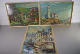 TWO PRINTS OF FISHING SCENES