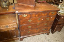 EARLY 19TH CENTURY MAHOGANY CHEST OF DRAWERS, RAISED ON BRACKET FEET, WIDTH APPROX 104CM