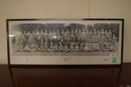 FRAMED SCHOOL PHOTOGRAPH, UNTHANK COLLEGE, NORWICH, JULY 1933, APPROX 64CM WIDE