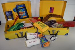TWO CUSTOM MADE SMALL SUITCASES CONTAINING MEMORABILIA FROM THE SYDNEY MILLENNIUM GAMES INCLUDING
