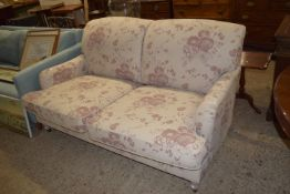 MODERN FLORAL TWO SEATER SOFA, LENGTH APPROX 176CM