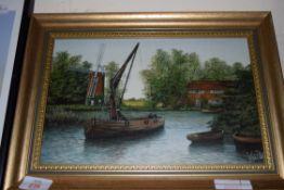 PICTURE OF A NORFOLK WHERRY