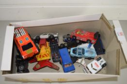 SMALL BOX CONTAINING TOY CARS, ALL IN PLAY WORN CONDITION
