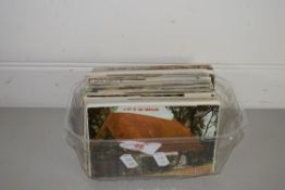 SMALL BOX CONTAINING POSTCARDS, MAINLY TOPOGRAPHICAL