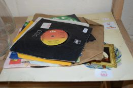 SMALL COLLECTION OF RECORDS, POP MUSIC, BEE GEES, KYLIE MINOGUE ETC