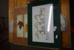 TWO CHOPPING BOARDS