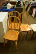 THREE WOODEN CHAIRS