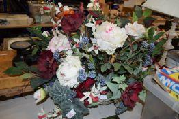 DISPLAY OF PLASTIC FLOWERS